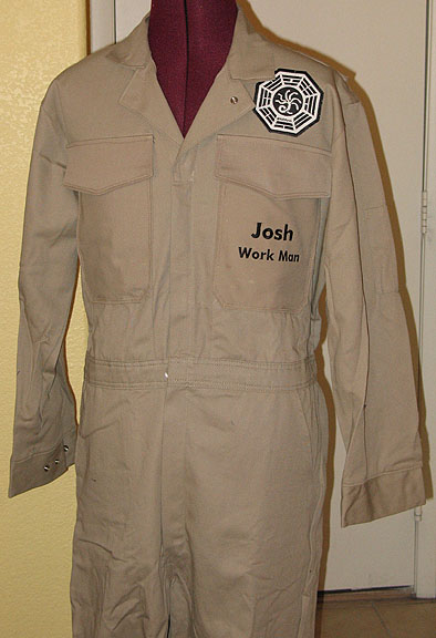 LOST Dharma Initiative Jumpsuit with choice of patch